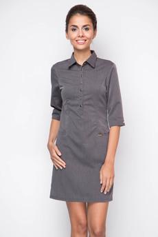 Серое офисное платье Marimay