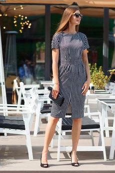 Платье с короткими рукавами в деловом стиле RUXARA