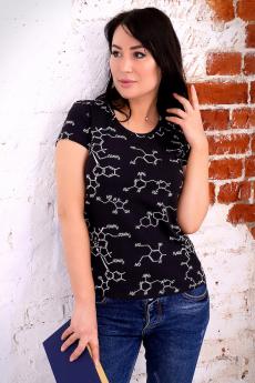 Черная футболка с формулой Натали