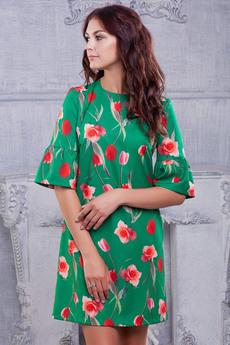 Платье с тюльпанами Look Russian