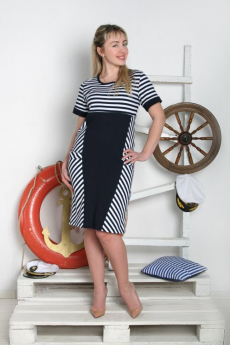 Новинка: платье в морском стиле Милана
